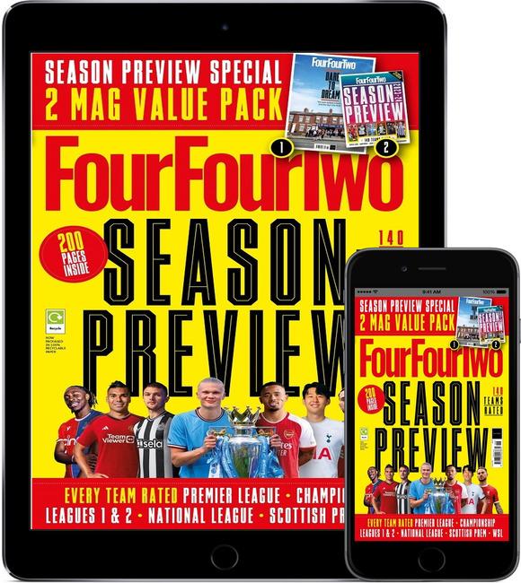 An image of FourFourTwo Print & Digital Bundle Magazine Subscription
